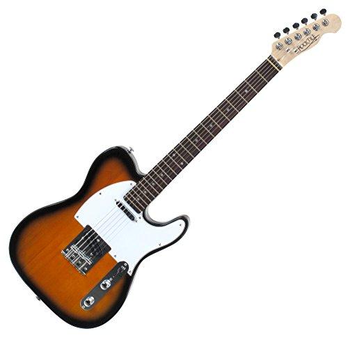 Rocktile TL100 Pro-SB Chitarra Elettrica 2-Tone, Colore Sunburst