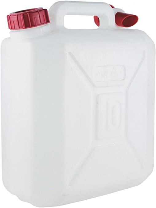 10 LITRE PLASTIC WATER CONTAINER CARRIER JERRY CAN BOTTLE DRUM 10L 2 GALLON: image