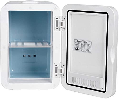 Mini frigorífico pequeño Mini nevera, 8 litros 48W 48W CA DC Fresco Hot Dual Uso Puerta de succión magnética portátil Puerta de succión magnética y más cálido refrigerador refrigerador de belleza comp