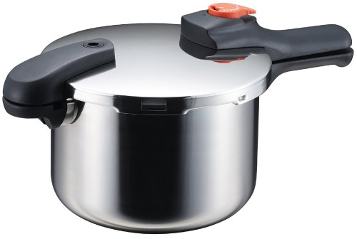 パール金属 片手 圧力鍋 5.5L IH対応 ステンレス 圧力切替式 レシピ付 節約クック H-5437
