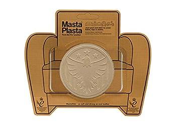 MastaPlasta Self-Adhesive Premium Leather Repair Patch - Eagle Suede Beige - 3 Inch Diameter - First-aid for Sofas car Seats & More