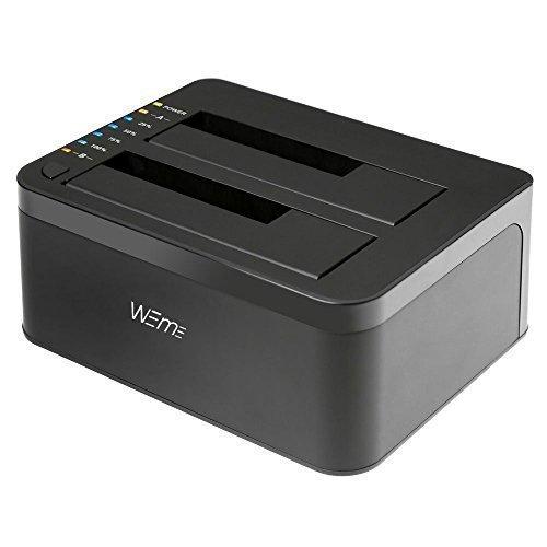 WEme USB 3.0 to SATA Dual-Bay External Hard Drive Docking Station with Offline Clone/Duplicator