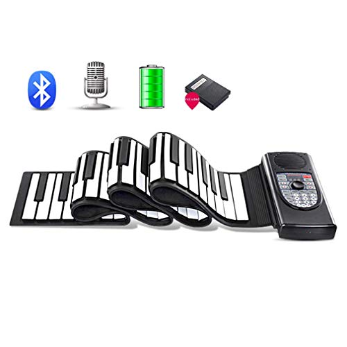 Why Should You Buy 88 Key Travel Roll Up Piano Keyboards, Foldable Silicone Educational Piano with Recording Bluetooth Feature and Sustain Pedal, for Kids and Adults JIAJIAFUDR