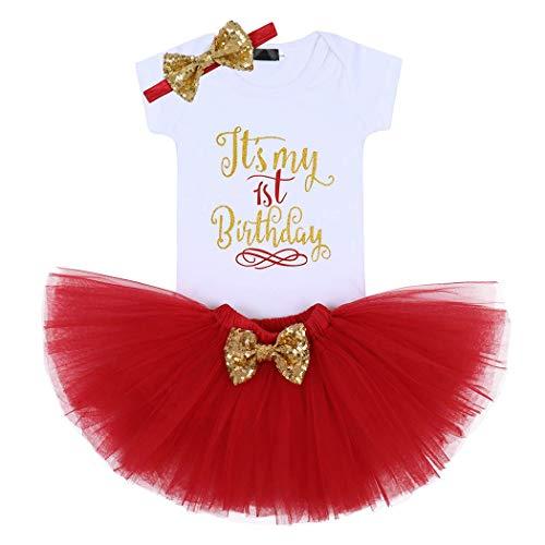 AmzBarley Bebé Niña Vestido Cumpleaños Treaje Falda Romper Diadema My 2nd Birthday Segundo Cumpleaños Mameluco Disfraz Fiesta Carnaval Venda