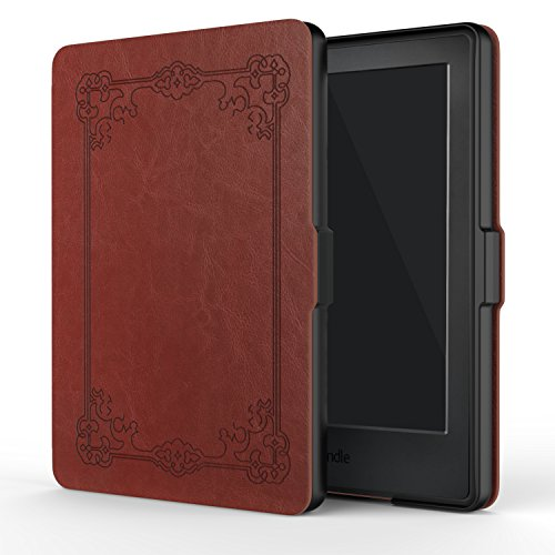 MoKo Case for Kindle E-reader (8th Generation 2016) - The Thinnest and Lightest Cover with Auto Wake/Sleep for Amazon Kindle(6 Display, 8th Gen 2016 Release), Vintage Style