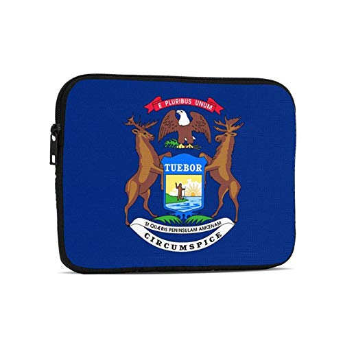 Michigan State Flag Tablet Bag Durable Laptop Bag Tablet Sleeve Case for Ipad 7.9 Inch,