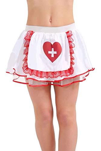 21Fashion Disfraz de médico cirujano para cosplay para mujer, accesorios para fiestas de disfraces, para adultos, sexy, para enfermera, tututututututu, talla única