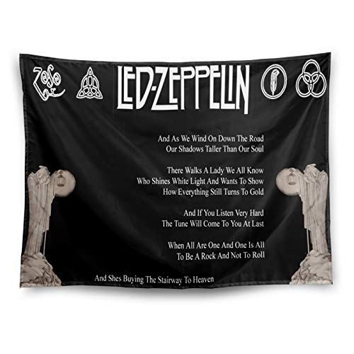 Rock Band Tapestry Room Decor Rock And Roll Fabric Poster Vintage Metal Sign Wall Hanging Black And White Metallica Gifts For Home Wall Decoration