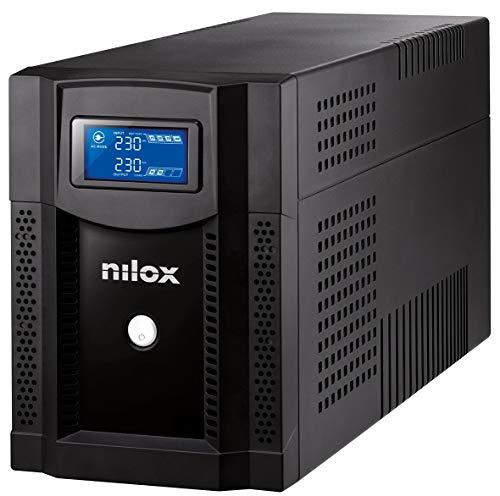 Nilox, UPS Premium Line Interactive Sinewave LCD da 3000VA/2100W, UPS Line Interactive ad Onda Sinusoidale Perfetta, Protegge Piccole Reti, Workstation, Computer e Periferiche da Blackout
