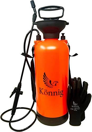 Könnig Lawn, Yard and Garden Pressure Sprayer For Chemicals, Fertilizer, Herbicides and Pesticides with FREE Pair of Garden Gloves (1.75 Gallon)
