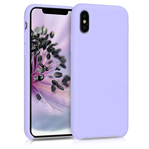 kwmobile TPU Silicone Case Compatible with Apple iPhone Xs - Case Slim Protective Phone Cover with Soft Finish - Lavender