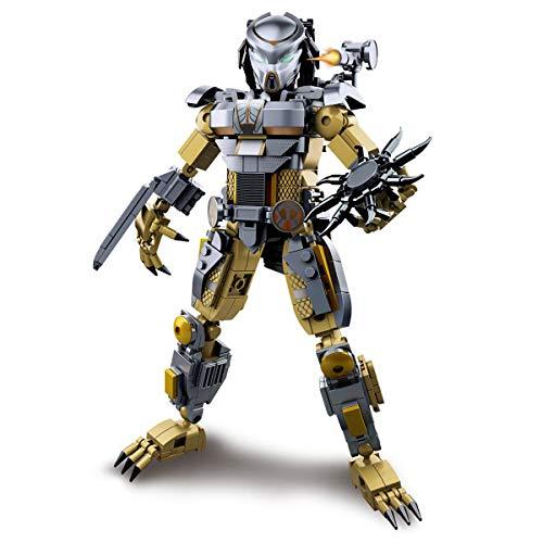 LionMoc Moc Creator Mech - 'Pacific Rim' DIY Mecha Building Block Bricks Machine Toy Compatible (The-Predator)