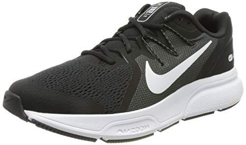 Nike Zoom Span 3, Zapatillas para Correr Hombre, Black White Antracita, 40 EU
