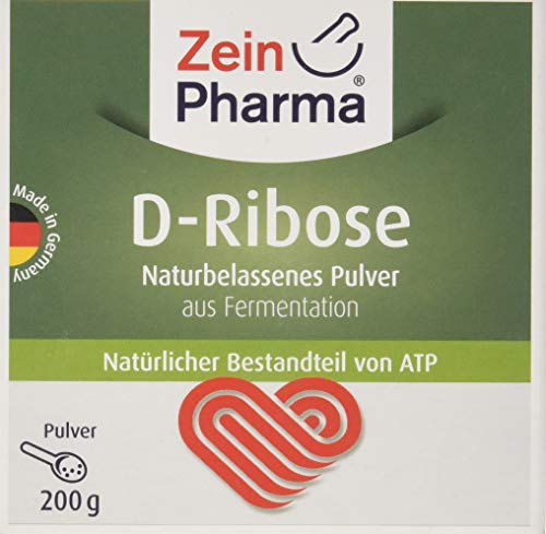 ZeinPharma D-Ribose Pulver 200g (Monatspackung) fördert die Bildung von ATP Hergestellt in Deutschland, 200 g