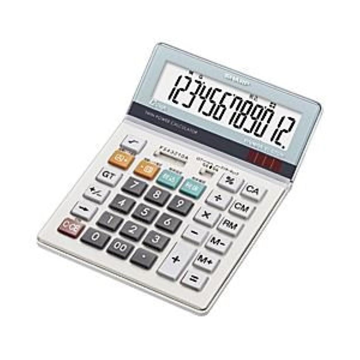 痴漢キャリッジ議会(業務用セット) シャープ 卓上大型電卓 12桁 縦19.7×横14.0×厚さ2.7cm EL-S7
