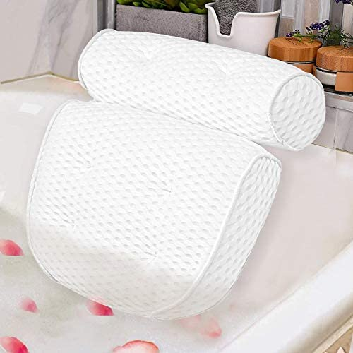 Bath Pillow Spa Bathtub Pillow with 4D Air Mesh Luxury Bath Pillow with 7 Powerful Suction Cups product image