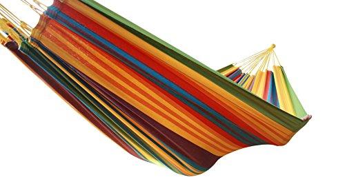 MacaMex Ma de 01100 Hamac, Vida Paraiso-Original Tissage Bresilien Double Hamac Coton Multicolore 360 x 160 x 150 cm