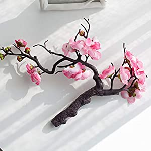 TBoxBo Cherry Red Plum Artificial Flowers Blossom Silk Artificial Flowers for Home Wedding DIY Decoration Foam Christmas Berry Flowers Without Vase