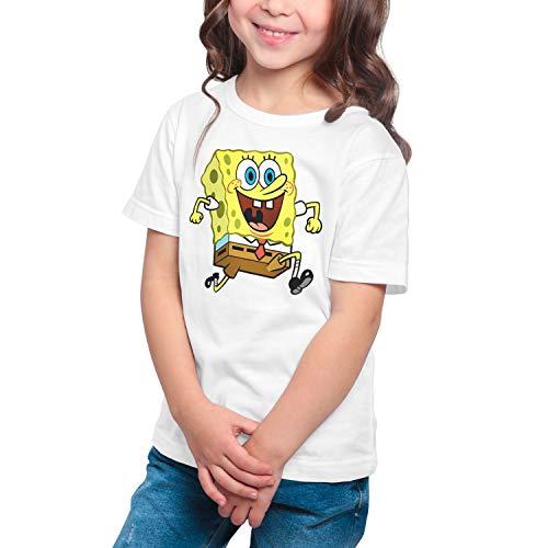 Camiseta Niña Dibujos Animación Bob Esponja (Blanco, 11 años)