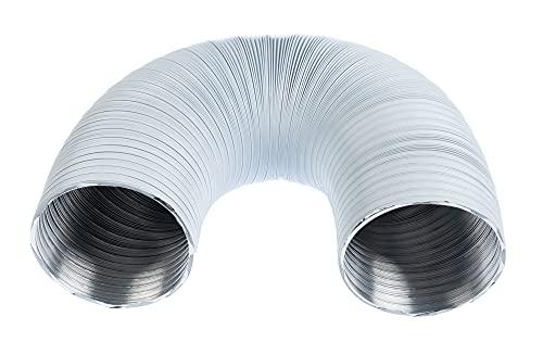 Tubo flexible de aluminio, diámetro de 100 mm, 1,5 m, color blanco