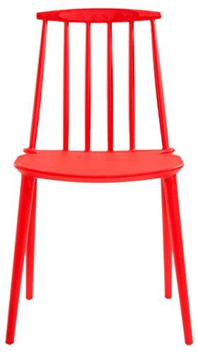 Soliving Lot de 2 Chaises l'Ouest Intérieur et Extérieur, Autre, Rouge, 48.5 x 43 x 81 cm