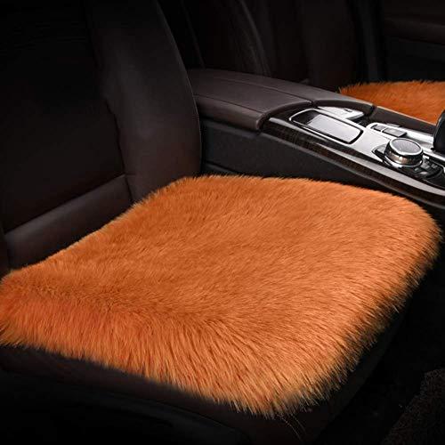 YLCJ Knuffel Voorstoel Kussen, Ademend Auto Stoel Kussen Schapenvacht Fit Langs Seat Wool Universele Car-E Warm Kussen 52x50cm (20x20inch)