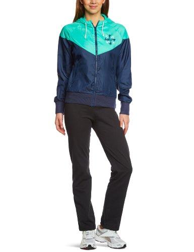 Nike Damen Sportswear Pinwheel Windrunner Jacket, Black/Green, S, 507333-451-S
