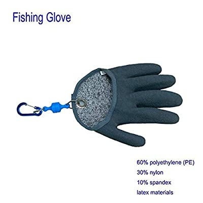LXMART Fishing Glove Magnets Fisherman Professional Catch Fish Glove Prevent Cutting Piercing PE Dip Rubber Gloves The Best Choice Anglers