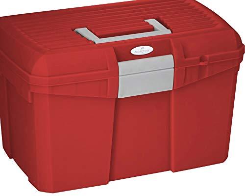 Amesbichler Norton - Scatola per Pulizia Cavalli, Colore: Rosso/Grigio