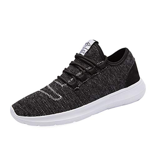 Vamtic Men's Running Lightweight Sports Shoe Athletic Fashion Sneakers Comfort Walking Shoes for Male Pickleball Tennis All/Black45