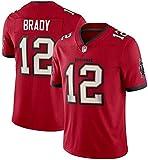 Dll Los Hombres de Rugby Ropa, Uniformes del fútbol Legendario NFL Football Jersey Buccaneers # 12 Tom Brady Jersey, Baloncesto Camiseta (Color : Red A, Size : XXXL)