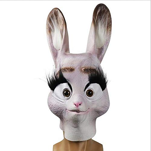 AOLIAY - Gorro creativo de polica con diseo de conejo, divertida cubierta de cara de animal, accesorio para fiestas en vivo, decoracin