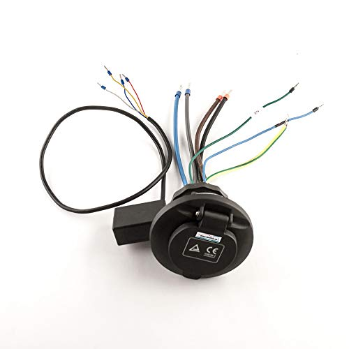 Wallbox24 Ladekupplung Typ 2 mit Verriegelung Ladesteckdose max 32A für Elektrofahrzeuge