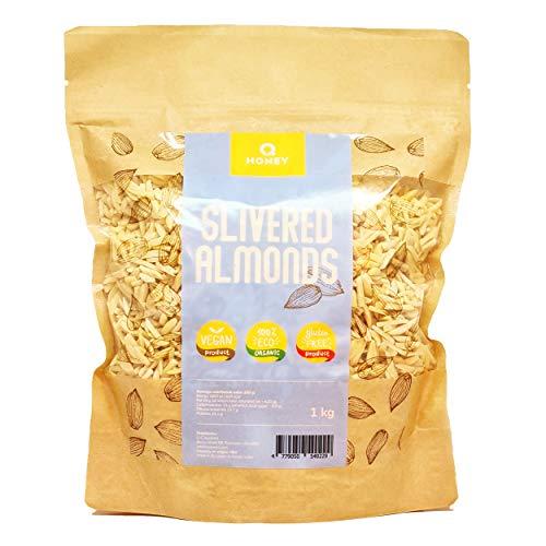 Q Honey - Amandes en batonnets, Sans Gluten Slivered Almonds 1kg