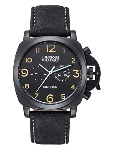 MLHXHX Cinturón de Reloj de Hombres Reloj mecánico automático Impermeable Luminoso Multifuncional Menores de Negocios Black 4