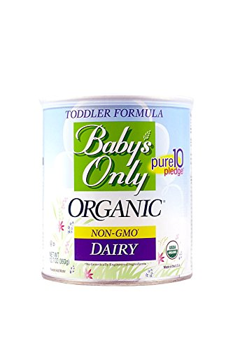 Babys Only Organic Toddler Formula, Dairy Iron Fortified, 12.7-Ounce Canisters (Pack of 3) Packaging...