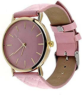 Casual watch with leather belt for women - Movable color