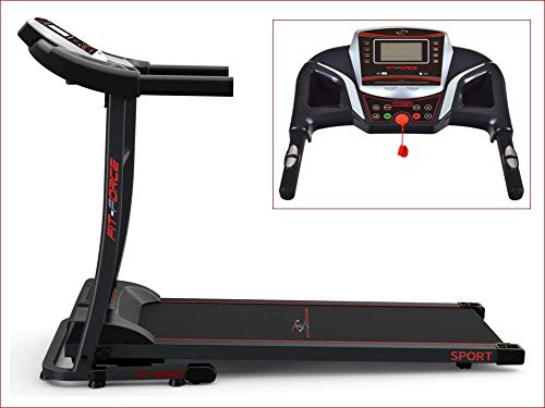 FIT-FORCE Cinta de Correr Plegable 1600W Velocidad hasta 15KM con Entrada de Mp3...