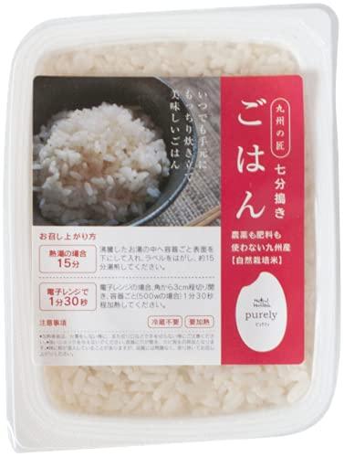 自然栽培米 レトルトごはん(七分搗き米) 12パック 1ケース