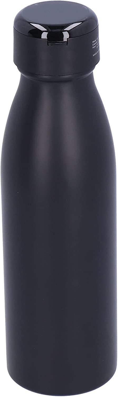 Gmkjh Botella de vacío, Taza de vacío, Botella de Agua de Acero Inoxidable de 600 ml con Auricular TWS Blutooth para Oficina, hogar, Viajes al Aire Libre(Negro)