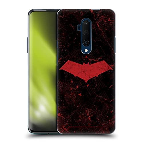 Head Case Designs sous Licence Officielle Batman DC Comics Logo Grunge Red Hood Coque Dure pour l'arrière Compatible avec OnePlus 7T Pro