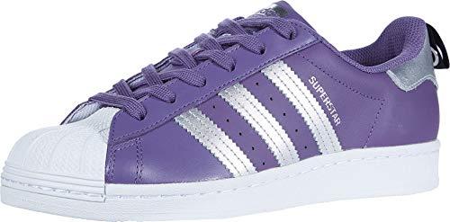 adidas Originals Damen Superstar Turnschuh, Tech Purple/Silver Metallic/Weiß, 37 EU