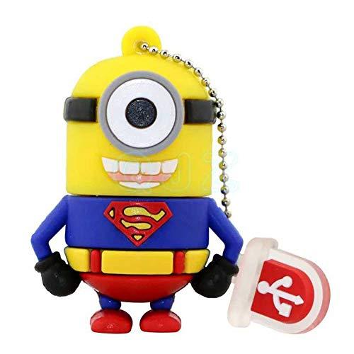 Pendrive Usb MemoryStick Flash Drive Disco U USB Chiavette Disco Flash USB2.0 Creativo cartone animato Super bello Hero minions anime bello Supereroe The Avengers Car (16GB,Superman)