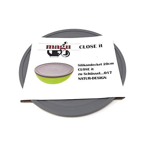 Magu 146026 - COUVERCLE EN SILICONE GRIS POUR SALADIER 20 CM