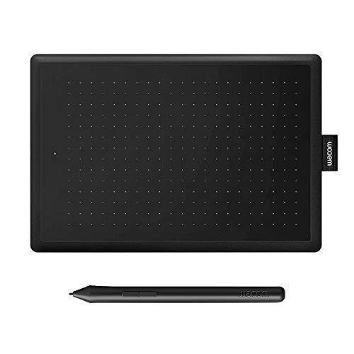 Wacom Bamboo Grafiktablett mit Stift CTL Bamboo Tablet Stift HD 2540 IPI für PC/iPad/Mac Mousepad schwarz (S)