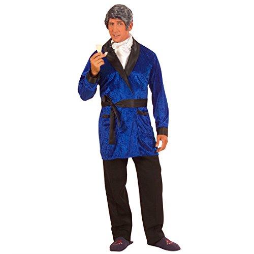 Playboy casa de Disfraces de Carnaval Disfraz de Playboy Colour Azul Nova Bata de Abrigo para Hombre Traje L 50/52