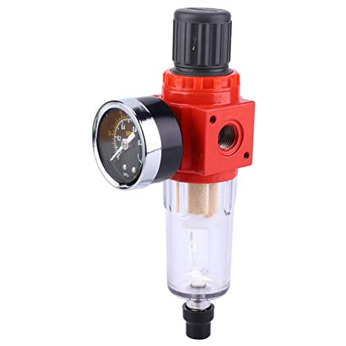 Omabeta With Pressure Gage Transparent Cover Pressure Regulator Valve for Air Tools System for Compressor(#1)