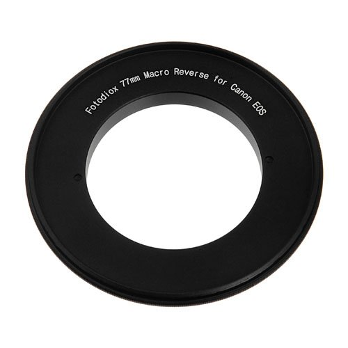 Fotodiox 77mm Macro Reverse Mount Adapter, for Canon EOS 1D, 1DS, Mark II, III, IV, 1DC, 1DX, D30, D60, 10D, 20D, 20DA, 30D, 40D, 50D, 60D, 60DA, 5D, Mark II, Mark III, 7D, Rebel XT, XTi, XSi, T1, T1i, T2i, T3, T3i, T4, T4i, C300, C500 -  10-Reverse-Canon-77