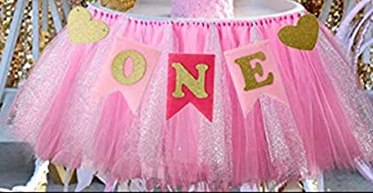 1st Birthday Girl Baby Tutu for High Chair Decoration and