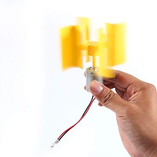 MAGT Generador De Viento Generador De Viento Completo, Kit de Bricolaje Pequeño Motor Vertical Turbinas de Viento Palas Brisa El generador de Electricidad Puede funcionar con Viento Ligero